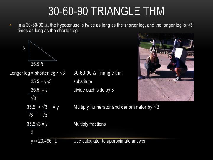30-60-90 TRIANGLE THM