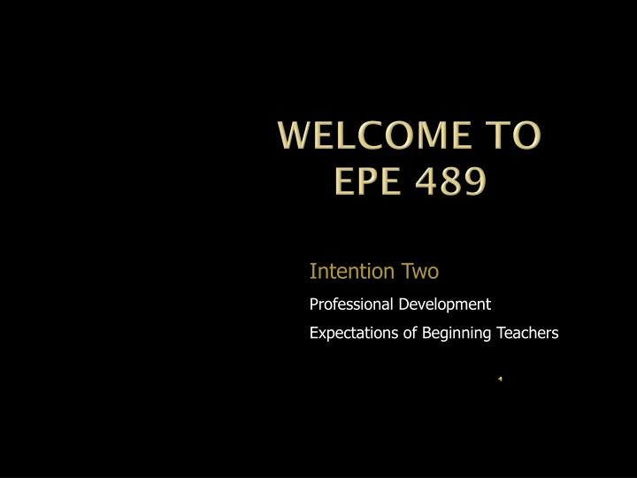 Welcome to epe 489