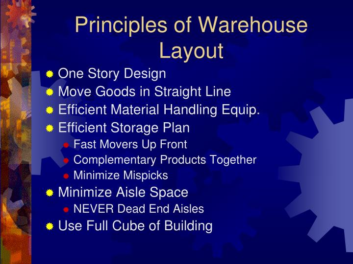 Principles of Warehouse Layout