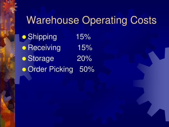 Warehouse Operating Costs