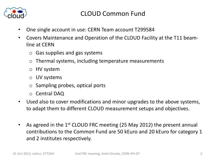 CLOUD Common Fund