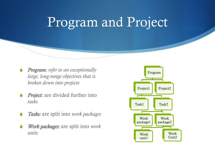 Program and Project