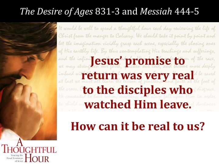 Jesus' promise to