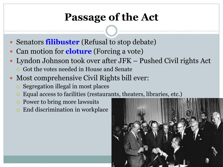 Passage of the Act