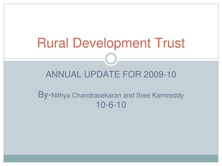 Rural development trust