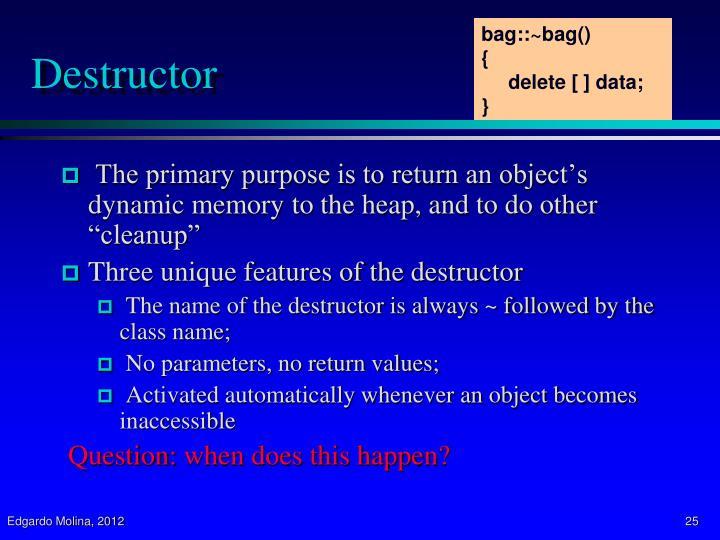 bag::~bag()