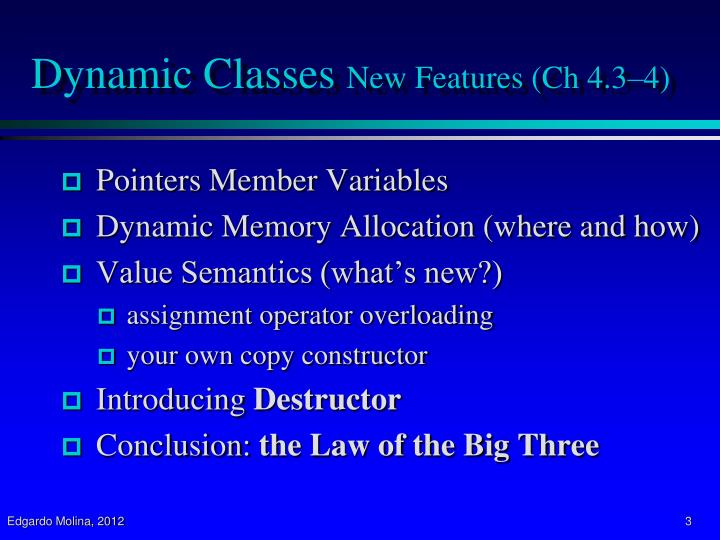 Dynamic classes new features ch 4 3 4