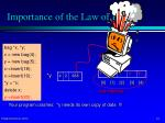 importance of the law of big 35