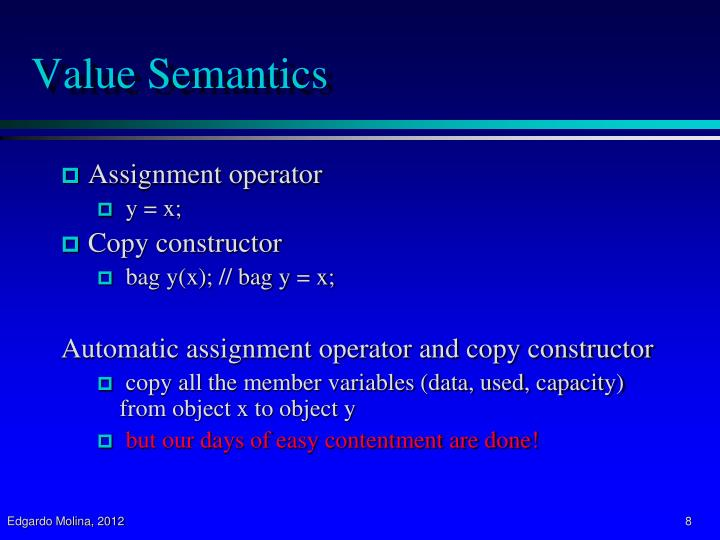 Value Semantics