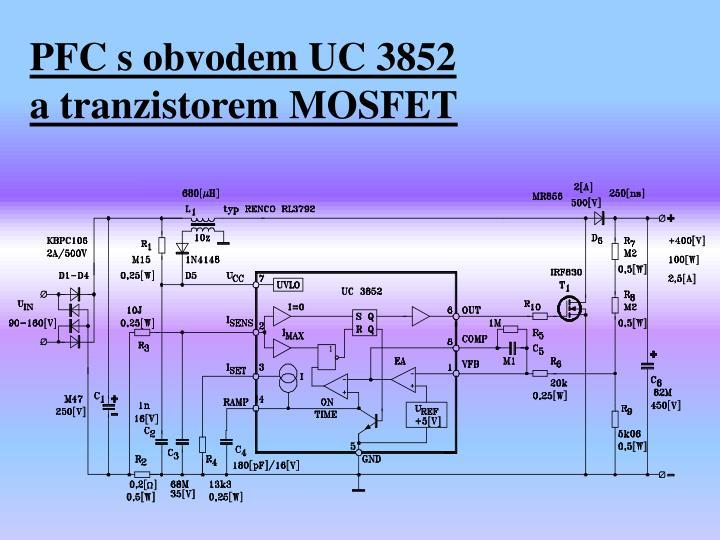 PFC s obvodem UC 3852