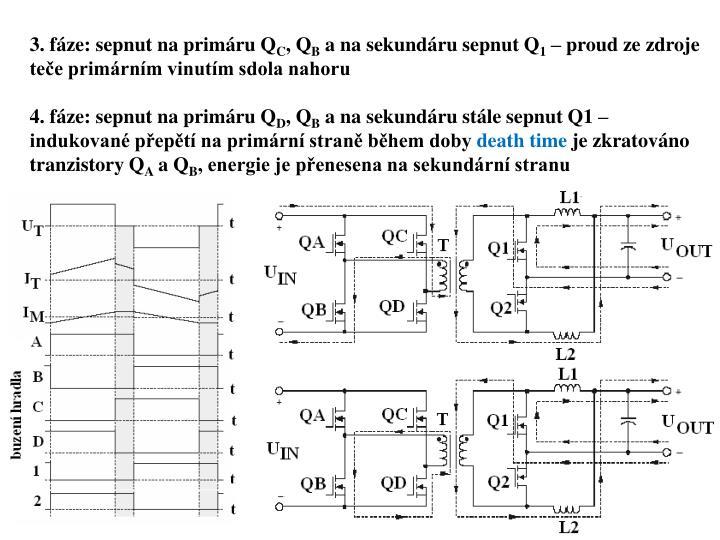 3. fáze: sepnut na primáru Q