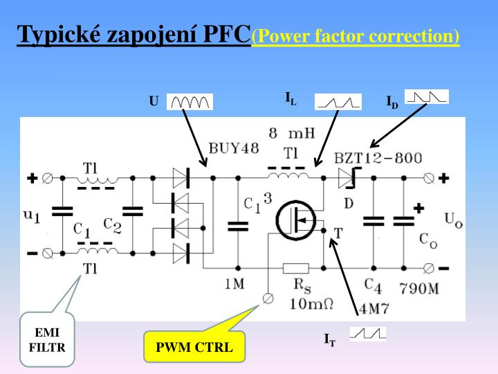 Typické zapojení PFC