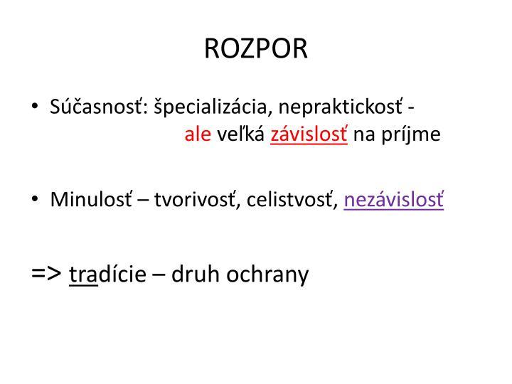 ROZPOR