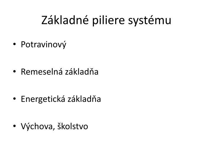 Základné piliere systému