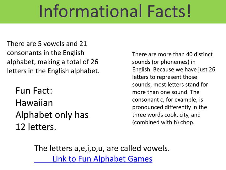 Informational Facts!