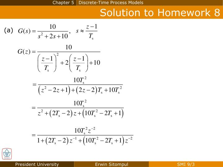 Solution to homework 8