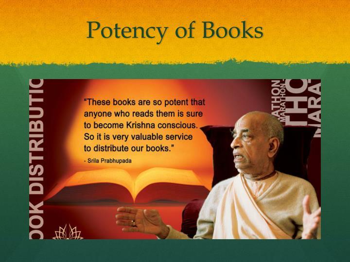 Potency of Books