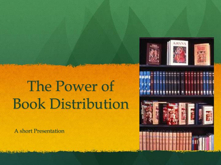The power of book distribution