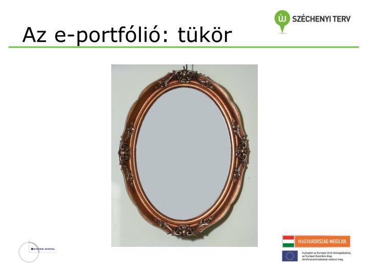 Az e-portfólió: tükör