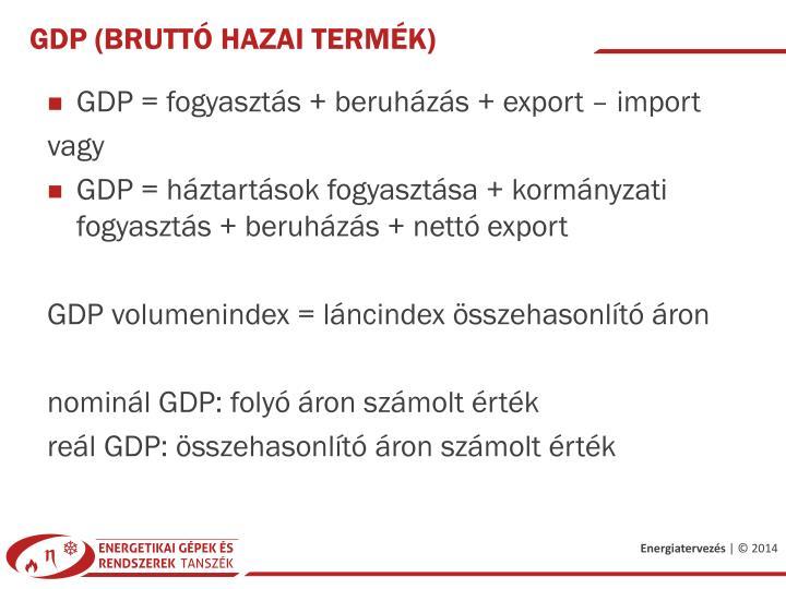GDP (bruttó hazai termék)