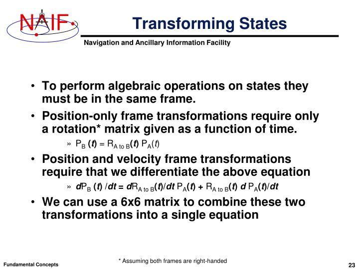 Transforming States