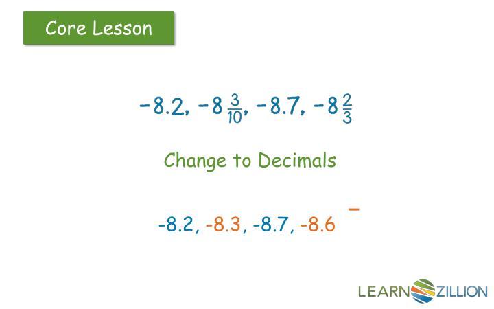 Change to Decimals