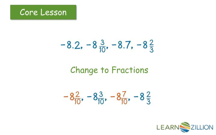 Change to Fractions