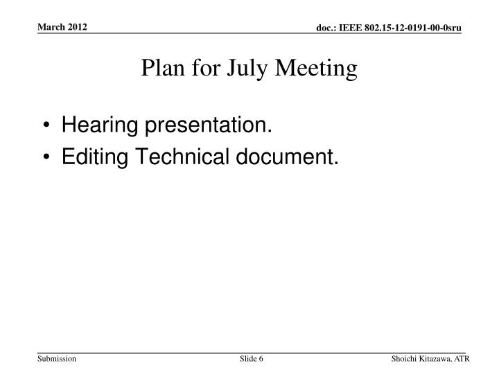 Hearing presentation.