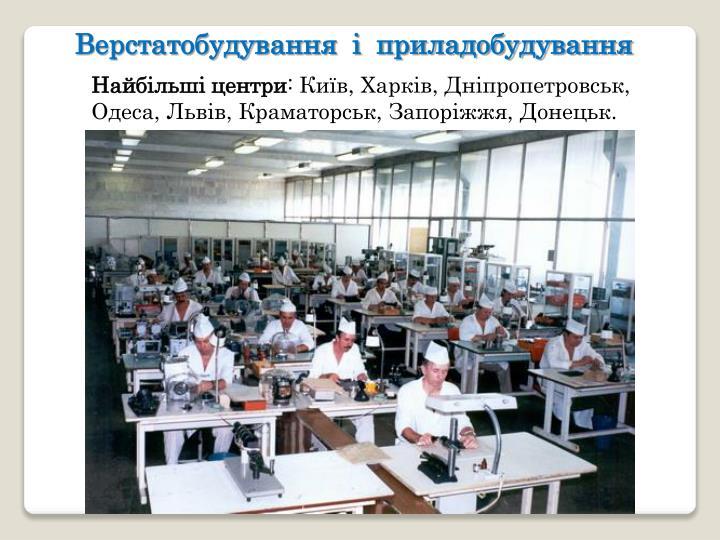 Верстатобудування  і  приладобудування