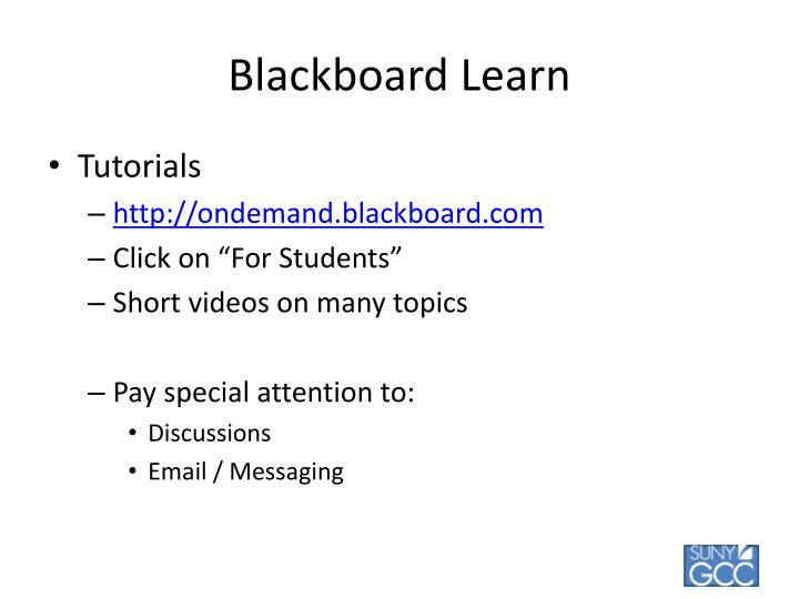 Blackboard Learn