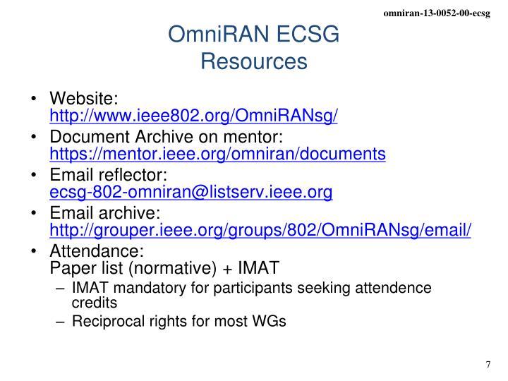 OmniRAN ECSG