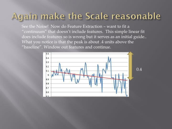 Again make the Scale reasonable