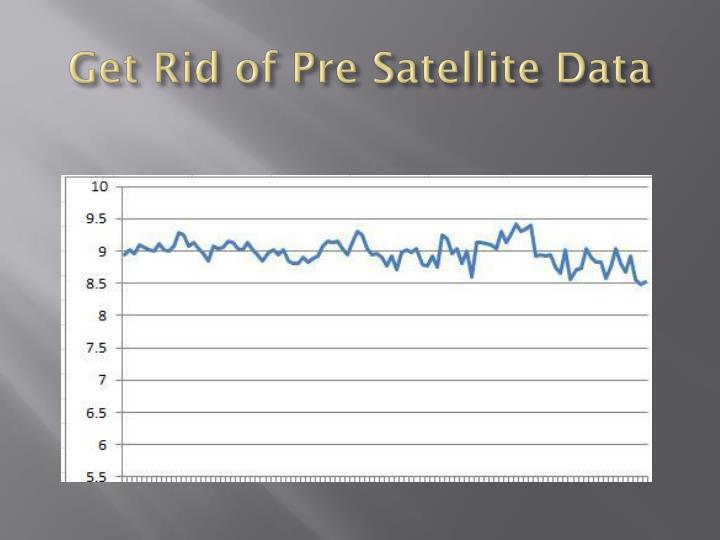 Get Rid of Pre Satellite Data