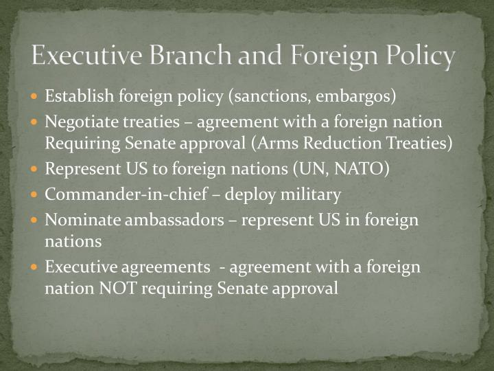 Executive Branch and Foreign Policy