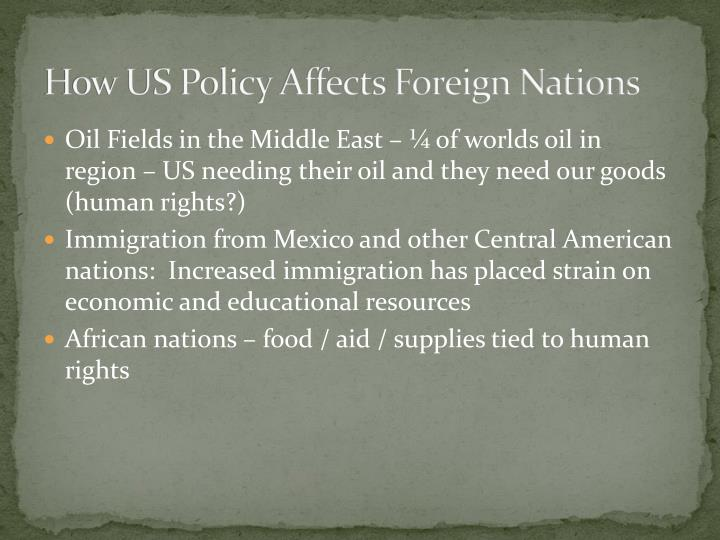 How US Policy Affects Foreign Nations
