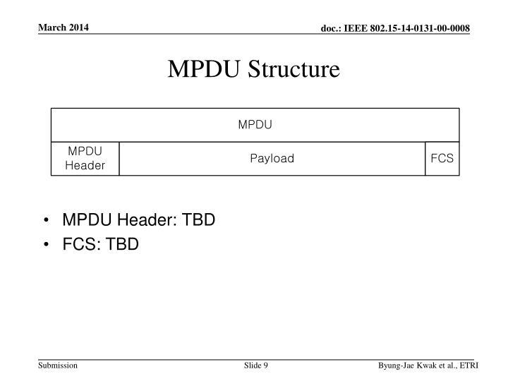 MPDU Structure