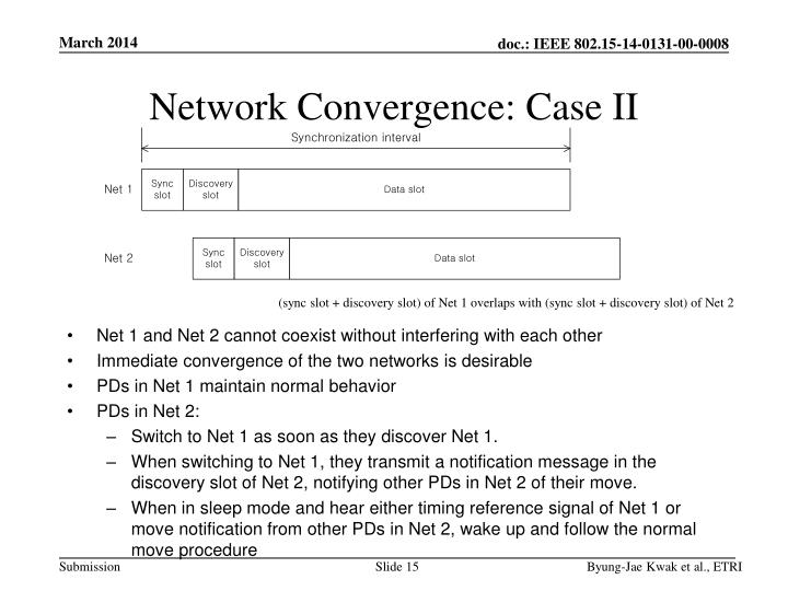 Network Convergence: Case II