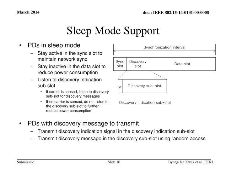 Sleep Mode Support