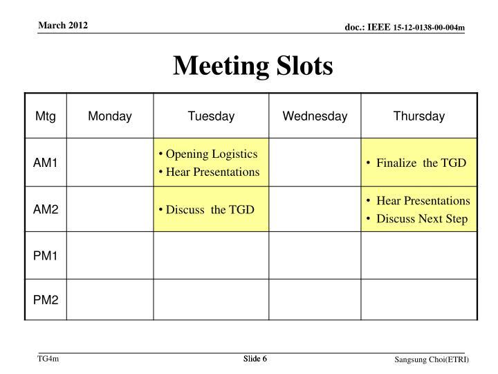 Meeting Slots