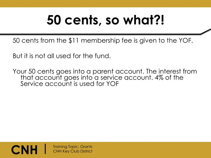 50 cents, so what?!