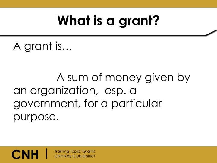 What is a grant