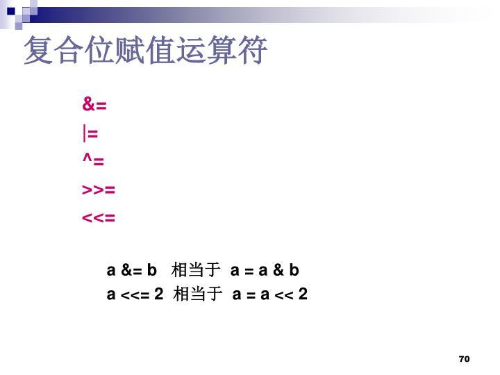 复合位赋值运算符