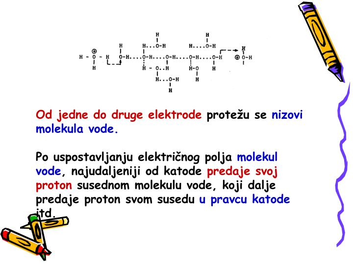 Od jedne do druge elektrode