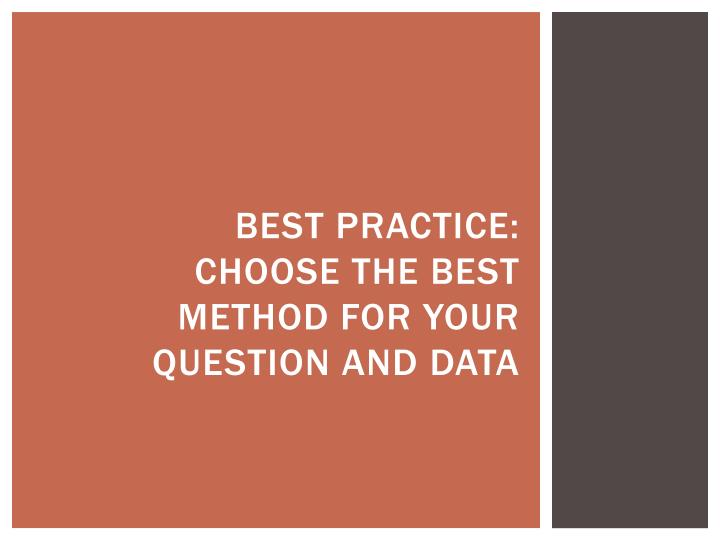 Best Practice: