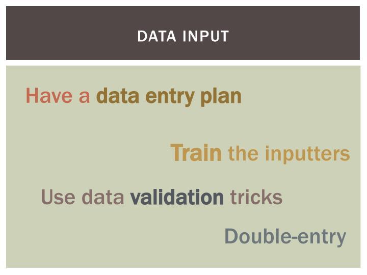 Data Input
