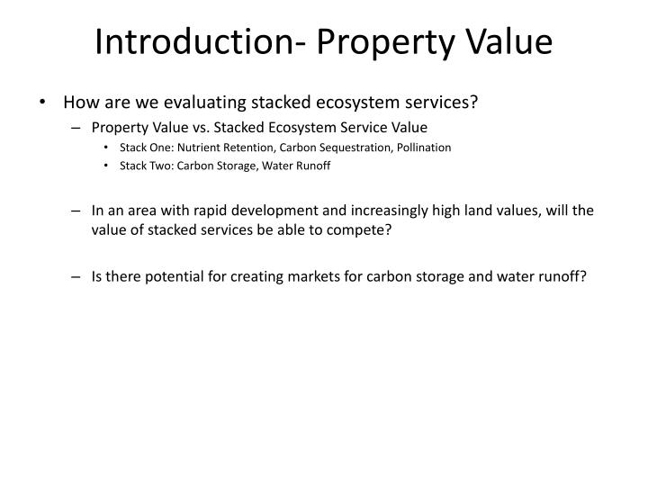 Introduction property value1