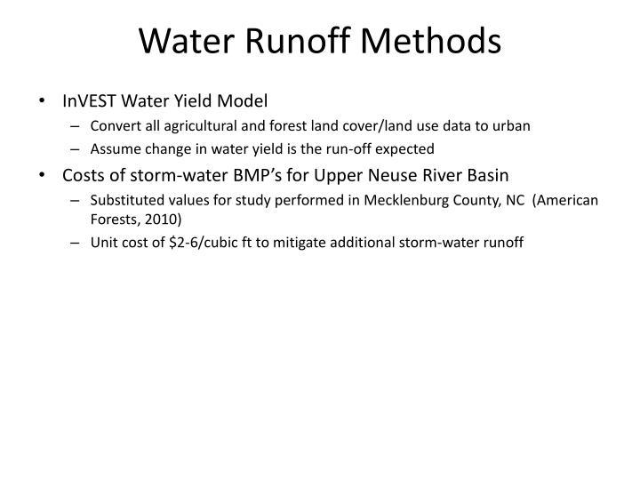 Water Runoff Methods