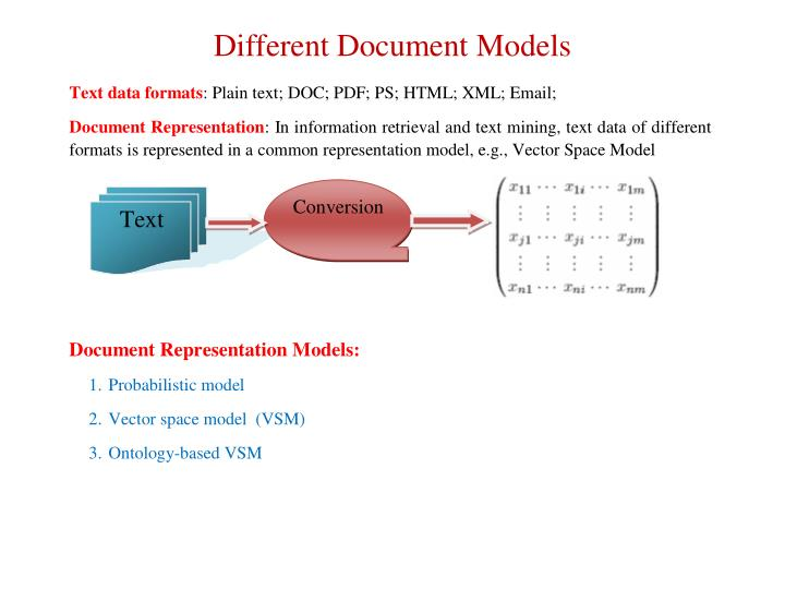 Different Document Models