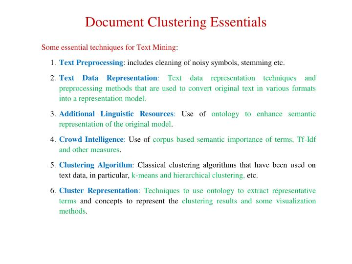 Document Clustering Essentials