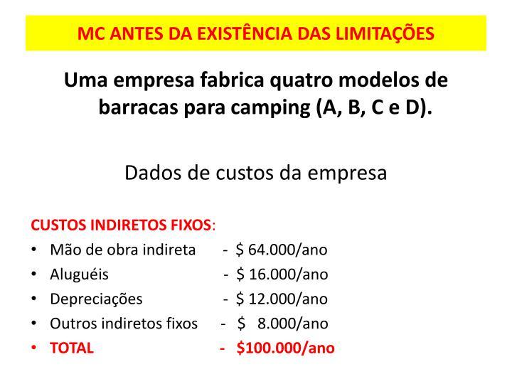 MC ANTES DA EXISTÊNCIA DAS LIMITAÇÕES